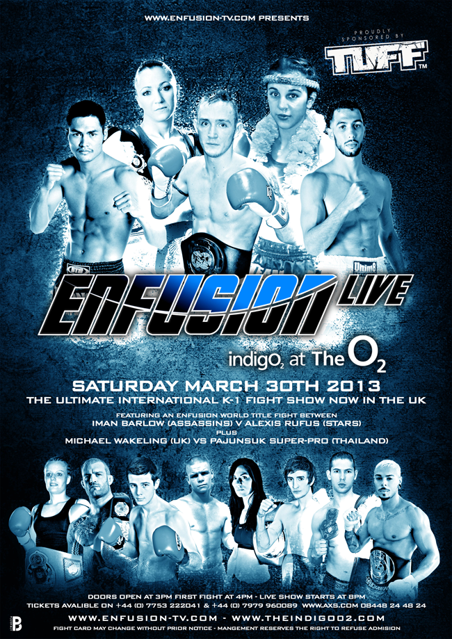 Enfusion Live London, Fight Card for this Saturday, March 30