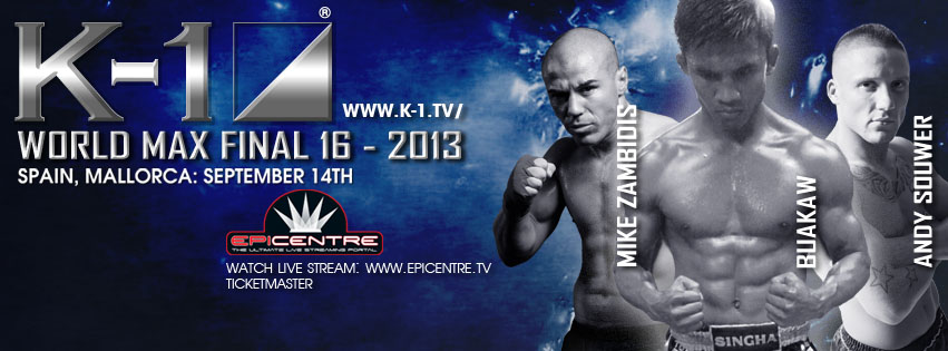 K-1 Announces K-1 World MAX 2013 Final 16 Tournament Fights